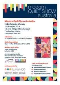 Modern Quilt Show Australia 2019 @ The Pavillion